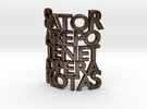 Sator Arepo Tenet Opera Rotas in Polished Bronze Steel