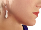 Nepenthese Fusca Earrings in Polished Silver