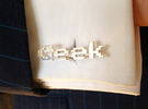GEEK in Polished Silver