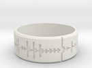 Amen, Brother - Amen Break Ring (size R 1/2)  in White Strong & Flexible