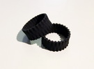 Pleats Rings in Black Strong & Flexible