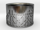 Ring SPO 01 (size 60 / US 10 / diam. 19mm) in Polished Silver