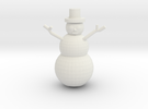 Snowman Miniature in White Strong & Flexible