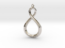 Mobius strip 3cm. in Rhodium Plated