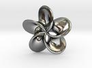 """Scherk minimal surface """"Rose"""" in Premium Silver"""