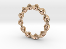 Twist Pendant in 14k Rose Gold Plated