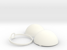 Opening Pokeball in White Strong & Flexible Polished
