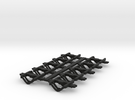 Couplings HST Coach Dapol Close in Black Strong & Flexible