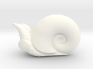 Large Powliphanta (lux) in White Strong & Flexible Polished