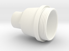 OilFilterCapPattern1.7 in White Strong & Flexible Polished