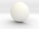 Drug The Bug Sphere - Bottom V03 in White Strong & Flexible Polished