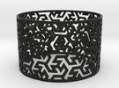 Bracelet Iranian Brickwork 1 in Black Strong & Flexible