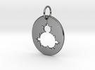 Mandelbrot Pendant in Premium Silver