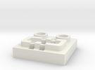 LEGO® Power Functions-compatible socket base in White Strong & Flexible
