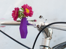 Geometric Bike Planter in Purple Strong & Flexible Polished