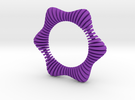 Floors Bracelet 01 in Purple Strong & Flexible Polished