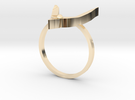 Egyptian Hound Ring - Sz. 8 in 14K Gold