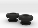 Guitar Strap Buttons - Big Button in Black Strong & Flexible