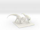 Dinosaur Indy Vs T rex 25 cm.  in White Strong & Flexible