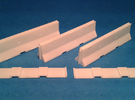 1/50 Jersey Barrier (10 ft/3m) [3 Pack] in White Strong & Flexible