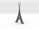 Eiffel Tower Earring Ornament in Raw Silver