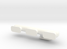 Straight Six 1-10 Exhaust Manifold  in White Strong & Flexible Polished