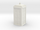 HO (1:87.1) Tardis in White Strong & Flexible