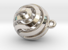 Ball-small-14-3 in Rhodium Plated