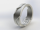 Ring Size N 1/2 (US Size 6 3/4) in Raw Silver