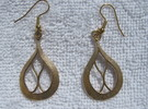 Pear Earrings in Raw Bronze