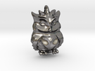 Little OWL Pendant Sovacka in Polished Nickel Steel