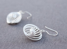 Concentric Earrings in Raw Silver