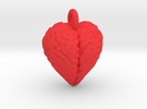 Brain Heart pendant / earring in Red Strong & Flexible Polished