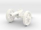 28mm field cannon in White Strong & Flexible Polished