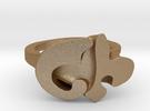 FLEUR RING- Size 9.0 in Matte Gold Steel