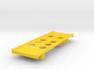 Yokomo 834b Battery Tray in Yellow Strong & Flexible Polished