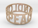 Peaceandlove 80 Bracelet in 14k Rose Gold Plated