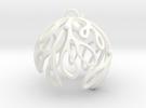 Mistletoe Ornament in White Strong & Flexible Polished