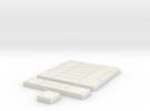 SciFi Tile 21 - Panelled Corridor in White Strong & Flexible