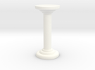 Round Pillar in White Strong & Flexible Polished