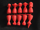 Game Piece Set 1 in Red Strong & Flexible Polished