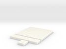 SciFi Tile 25 - Mesh Grating in White Strong & Flexible Polished