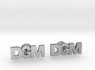 Monogram Cufflinks DGM in Polished Silver