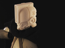 """""""Norman"""" custom 1:6th scale head in White Strong & Flexible"""