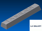 LA Galaxy Spacebar Keycap (5.5x) in White Strong & Flexible