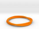 Bracelet Double in Orange Strong & Flexible Polished