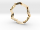 zig zag ring in 14K Gold