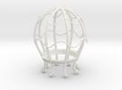 LightBulb Cage  in White Strong & Flexible