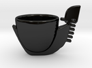 tazza gondola in Gloss Black Porcelain