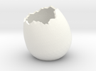 EggShell2 in White Strong & Flexible Polished